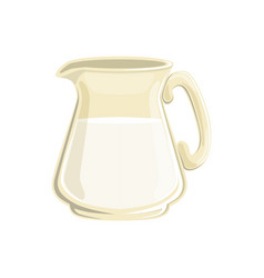 Glass jug milk vector