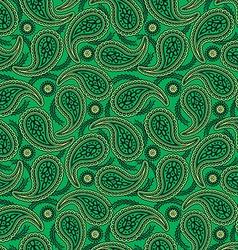 Green paisley seamless pattern vector