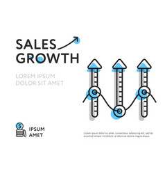 Growth sales in colorful template vector