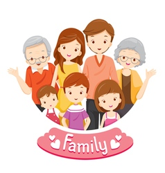 Happy Family Portrait vector