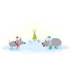 happy festive new year vector image