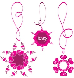 Heart necklace vector