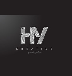 hy h y letter logo with zebra lines texture vector image