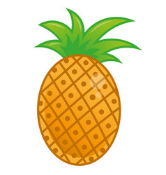 icon pineapple vector image
