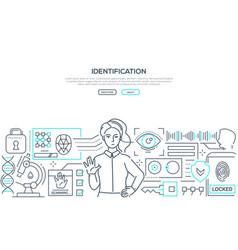 identification - modern line design style web vector image