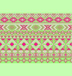 ikat pattern tribal motifs geometric seamless vector image