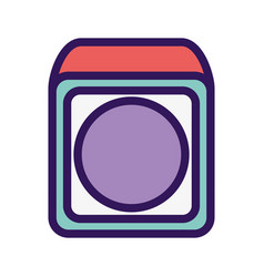 kids toy cube block icon design vector image