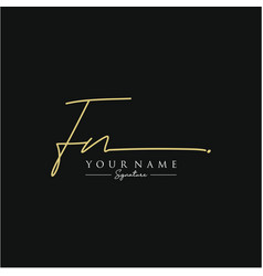 letter fn signature logo template vector image