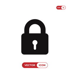 lock icon isolated on white background modern vector image