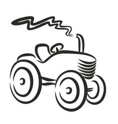 Logo farmer tractor vector