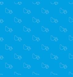 manual breast pump pattern seamless blue vector image