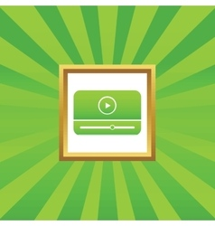 Mediaplayer picture icon vector