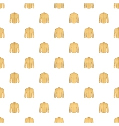 Men shirt pattern cartoon style vector