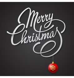 Merry Christmas card with Lettering vector image