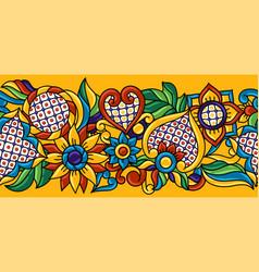 Mexican talavera seamless pattern decorative vector