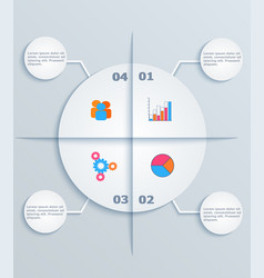 modern template infographic circles with flat vector image