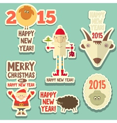 New year sticker vector