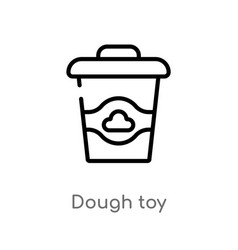 Outline dough toy icon isolated black simple line vector