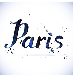 paris calligraphy design vector image