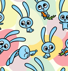 pattern with hares vector image