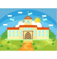 Picture of school buildings vector image