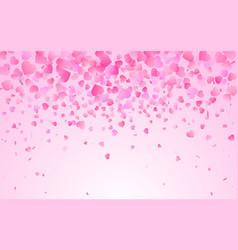 Pink pattern random falling hearts confetti vector