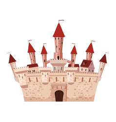 princess castle is a fairy tale architecture of vector image