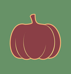 Pumpkin sign cordovan icon and mellow vector