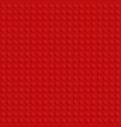 red plastic construction block plate seamless vector image
