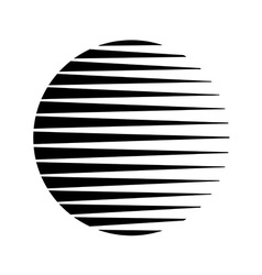 Round circle triangle lines halftone style black vector