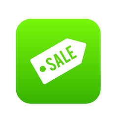 sale icon digital green vector image