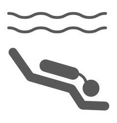 Scuba diving glyph icon diving and underwater vector