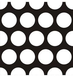 Seamless dark pattern with big white polka dots vector