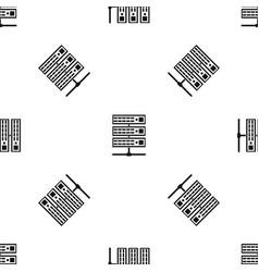 servers pattern seamless black vector image
