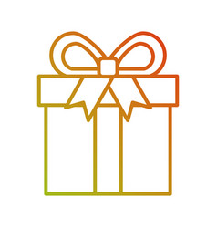shopping gift box online button icon vector image