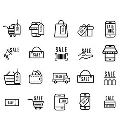 Shopping online delivery service concept icon vector