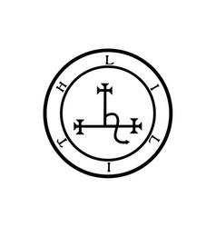 Sigil lilith- female demon lilith symbol vector