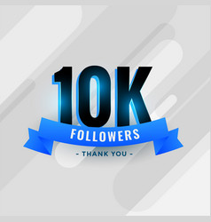 Social media 10k followers or 10000 subscribers vector