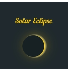 solar eclipse with yellow glow vector image vector image