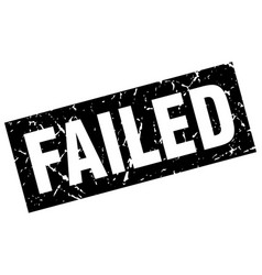 Square grunge black failed stamp vector