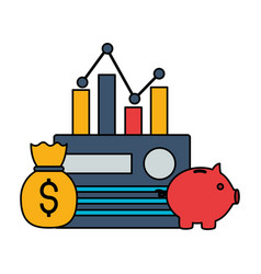 stock market image vector image