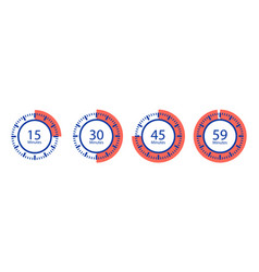 stopwatch icons timer isolated on white vector image