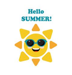 Sun in sunglasses vector