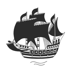 The ship logo or emblem for companies vector