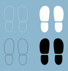 traces the heels of shoes the black and white vector image