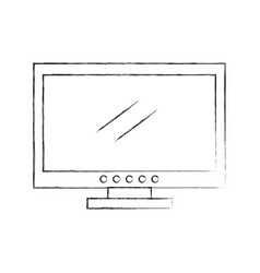 Tv plasma isolated icon vector