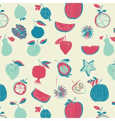 vintage fruit wallpaper vector image