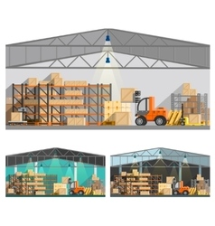 Warehouse And Storage Compositions Set vector