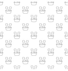 Washing in the basin pattern seamless vector