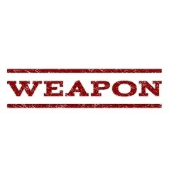 Weapon Watermark Stamp vector image